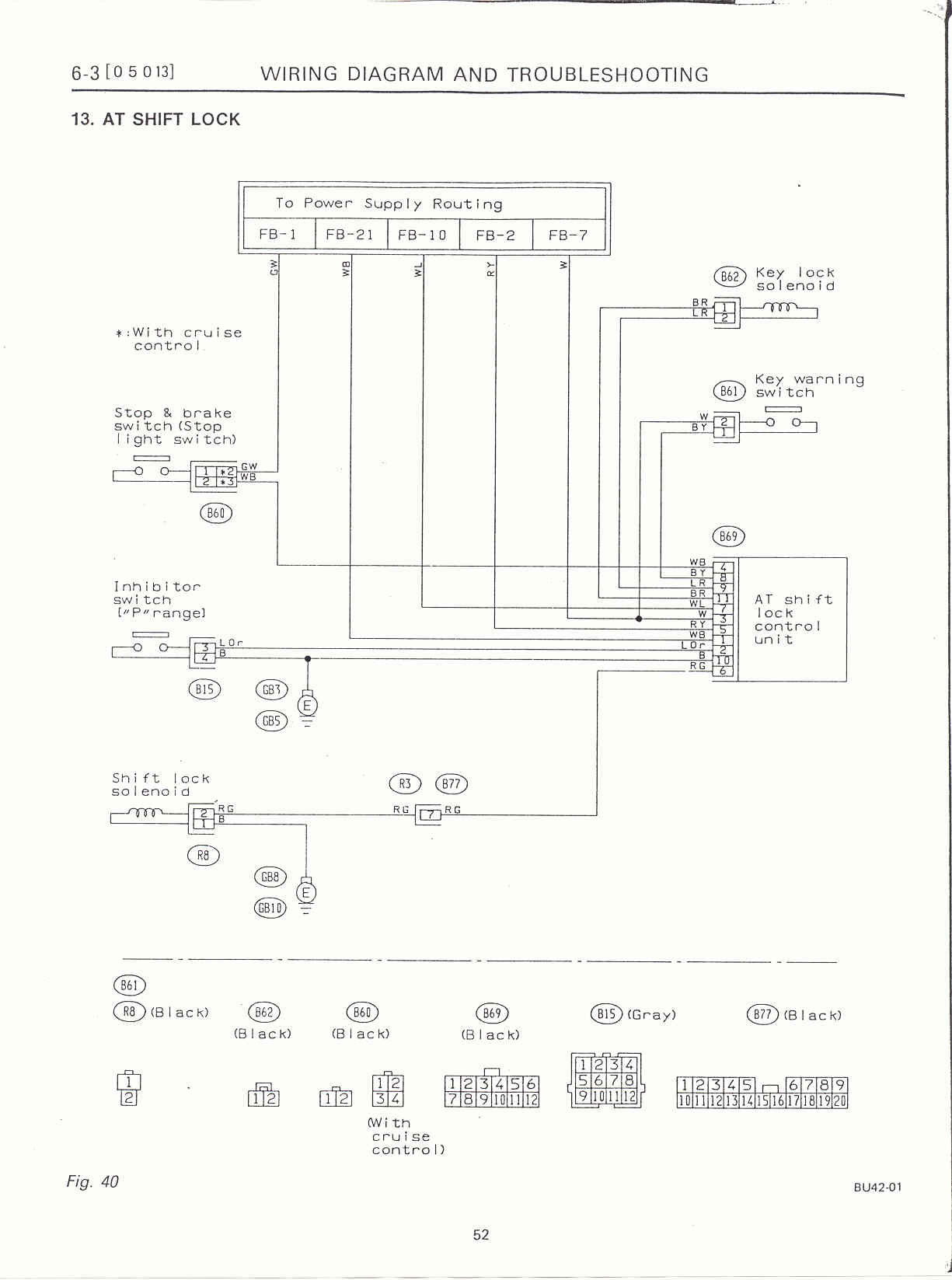 Surrealmirage Subaru Legacy Swap Electrical Info Notes Dccd Wiring Diagram At Shift Lock System