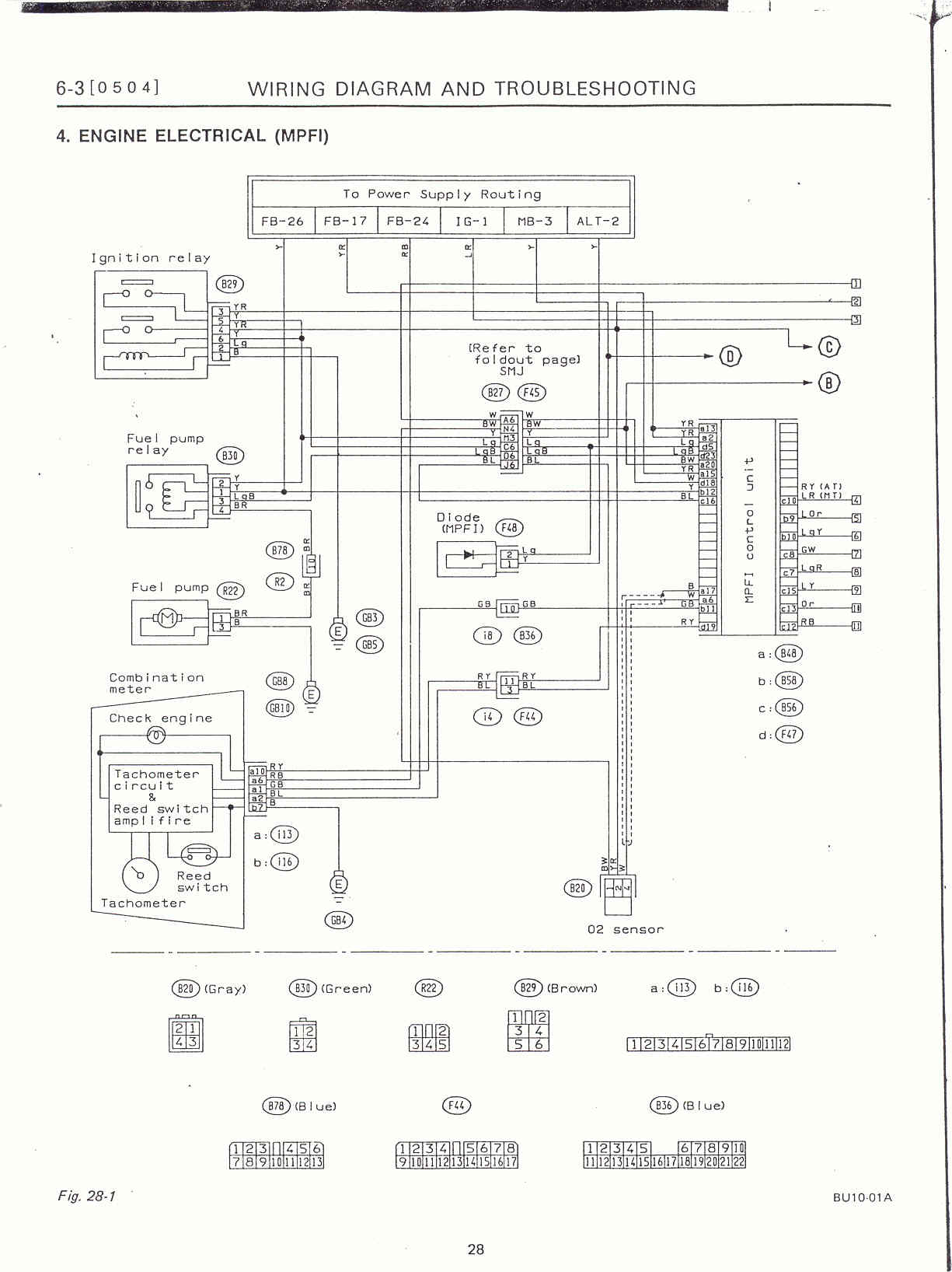 Surrealmirage Subaru Legacy Swap Electrical Info Notes Wiring Diagram For Lockout Relay Engine Page 1