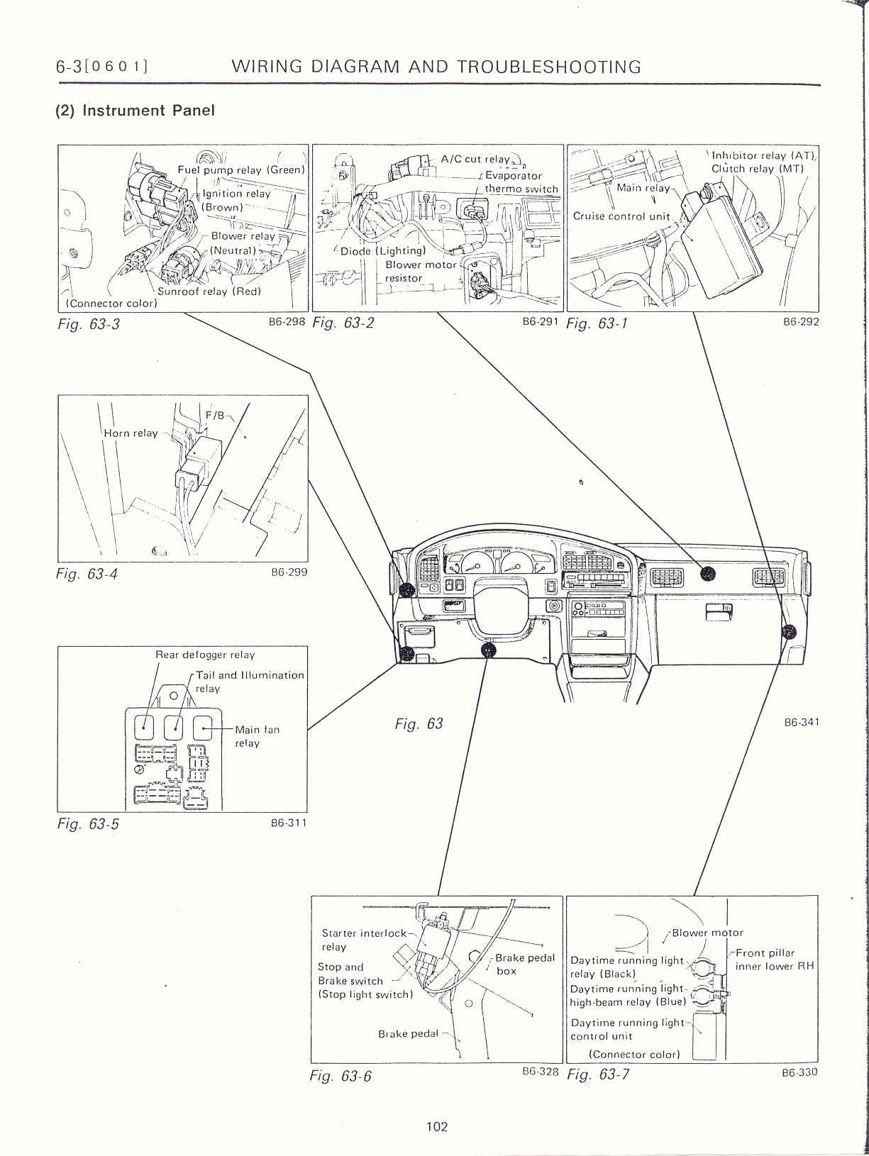 surrealmirage subaru legacy swap electrical info notes 1997 Subaru Legacy Green instrument panel