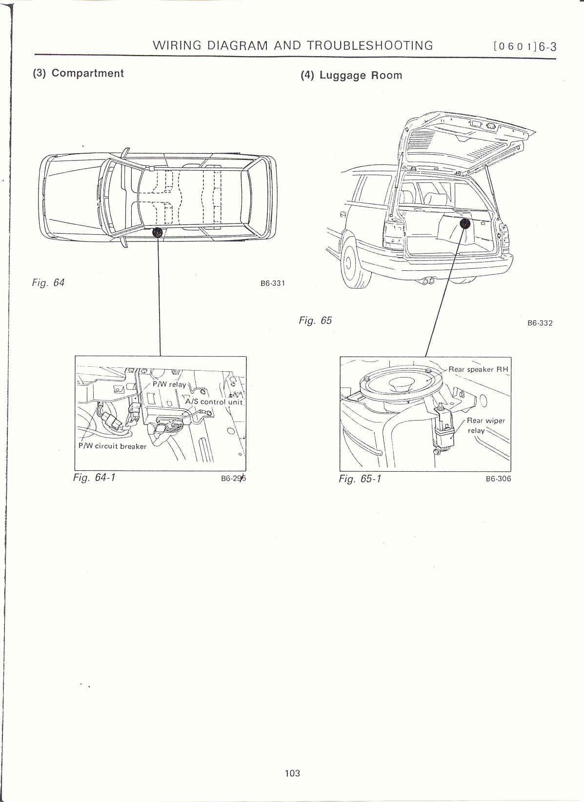 Surrealmirage Subaru Legacy Swap Electrical Info Notes Ej22 Engine Diagram Compartment Luggage Room