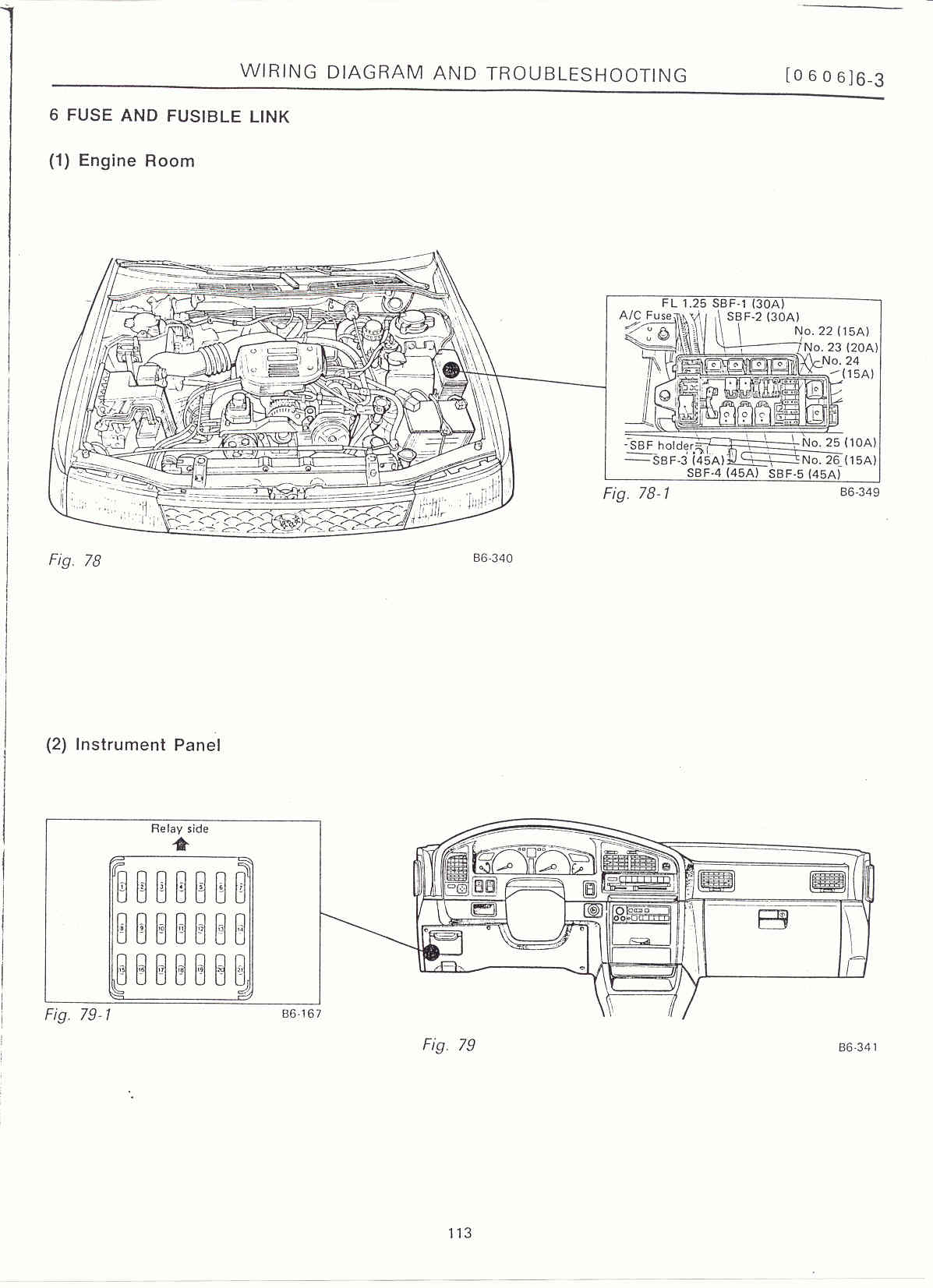 Subaru Outback Engine Room Fuse Box 35 Wiring Diagram Images 97 Headlight 6 3 Electrical Unit Location14 Surrealmirage Legacy Swap Info Notes